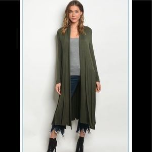 Olive jersey duster @ its_a_girl_thing